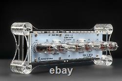 In-14 Nixie Tubes Horloge Cas Acrylique Avec Capteur De Température F / C White Board