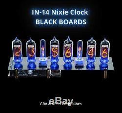 In-14 Tubes Nixie Horloge Black & Gra Afch Avec Des Tubes