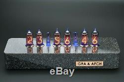 In-14 Tubes Nixie Horloge En Synthétique Granite Cas Divergence Mini-mètre