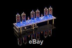 In-14 Tubes Nixie Horloge (colonnes, Musique, Usb) Compatible Arduino