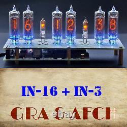 In-16 Micro Nixie Tubes Clock Rgb Usb Musical 12/24h Slotmachine Avec Tubes