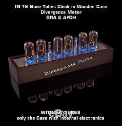 In-18 Horloge Nixie Tubes Dans Une Caisse En Bois Sans Tubes
