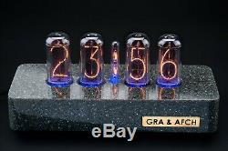 In-18 Tubes Nixie Horloge Synthétique Granite Case Gps 4 Tubes Livraison 3-5 Jours