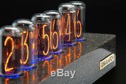 In-18 Tubes Nixie Horloge Synthétique Granite Case Sync Gps. Livraison 3-5 Jours Gratuit
