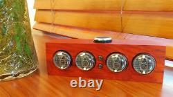 In-4 Lueur Tube Horloge Nixie Tube Horloge Bois Massif Électronique Led Rétro-éclairage Horloge