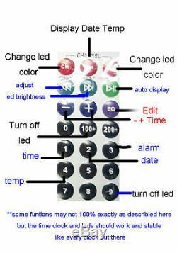 Iv11 Vfd Horloge Diy Kit Avec Telecommande Et Alarme Avec 6pcs Iv11 Vfd Tubes Nixie Époque