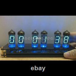 Iv11 Vfd Horloge Fluorescente Nixie Horloge 6 Couleurs Lumière Date Temperat