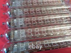 Iv-18 Iv18 Nixie Grand 7-segment 8 Chiffres Vfd Horloge Soviet Tube Vintage Nouveau 10pcs