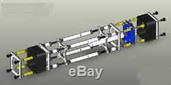Iv-18 Vfd Nixie Tube Clock Assemblé. Funcs Complet. Coque En Alliage. Ir Ctl. Livraison Gratuite
