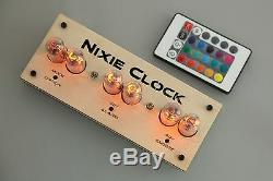 Jolitux Rgb Nixie Clock In-14 Tube Tube Clock Russe Avec Télécommande Led