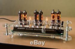 Kit Bricolage Numitron Iv-9 Tubes Horloge Steampunk + Led Rvb + Télécommande + Cas Nixie Era