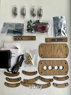 Kit D'horloge Nixie In-14 (avec Tubes) Et Boîtier En Bois
