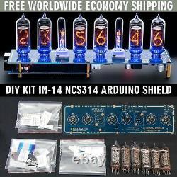 Kit De Bricolage In-14 Arduino Shield Ncs314 Nixie Clock Tubes Colonnes Livraison Gratuite
