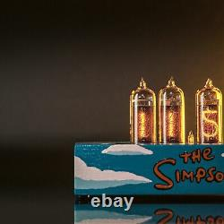L'horloge Du Tube Nixie De Simpsons In-14 Tubes Nixie Remplaçables, Détecteur De Mouvement