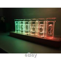 Led Rgb Moderne Horloge Numérique Coloré Décoration Pour La Maison Réveil Nixie Style Tube
