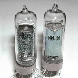 Lot De 100 In-14 Tube Grand Russe Rare Nixie In14 Pour Clock Indicator Urss
