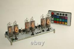 Maja Rgb Nixie Clock In-14 Russe Six Digit Tubes Tube Clock Avec Télécommande