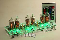 Maja Rgb Nixie Clock In-14 Russe Tubes Tube Horloge Avec Télécommande Conduit