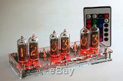 Maja Rvb Nixie Horloge In-14 Tube Tube Horloge Russe Avec Télécommande Led