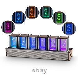 Moderne Digital Rgb Tube Clock 6 Chiffres Colorful Led Clock Retro Nixie Tube Kit