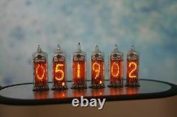 Monjibox Horloge Nixie Uhr Avec Des Tubes In16 Avec Boitier En Aluminium