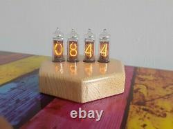 Monjibox Nixie Clock Uhr In14 Tubes En Bois Boîtier