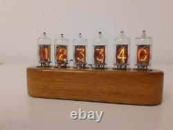 Monjibox Nixie Horloge Uhr Jewel Series Z570m Tubes Bois En Chêne