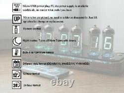 Monté Vfd Horloge Iv-11 Nixie Tube Horloge Steampunk Rétro Cyberpunk Horloge De Bureau