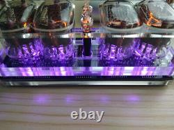 Nixie Clock 4 X In-12 Avec Tube Rgb Rétro-éclairage Assemblé 12/24 Format USA Magasin