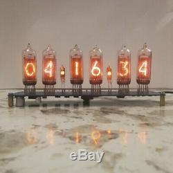 Nixie Clock 6x In-14 + 2x In-3 Avec Le Tube Rgb Rétroéclairage Assemblé Tubes Enfichables