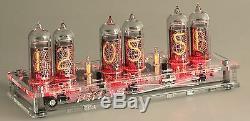 Nixie Clock In-14 Digit Tubes Kit Avec Boîtier Et Adaptateur D'alimentation 110-220v-12v