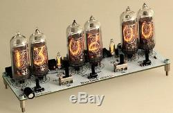 Nixie Clock In-14 Tubes Digit Tube Clock Kit Avec Adaptateur Secteur 110-220v-12v