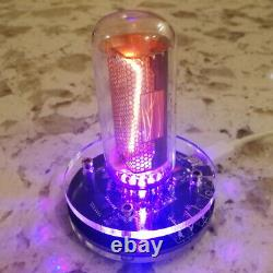 Nixie Clock In-18 With Tube Rgb Backlight Assembled 24h Format USA Shipping