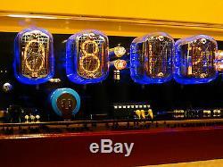 Nixie Clock Montre Steampunk Vintage Unique Avec 6 Tubes In-12 Alarme De L'époque De La Guerre Froide
