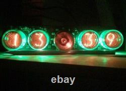 Nixie Clock Soviet Tube In-4 Horloge Russe