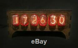 Nixie Cru Tube D'horloge Pulsar In-12 6-tubes