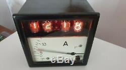 Nixie Horloge Électronique (cas Vintage Industrial Ampèremètre)