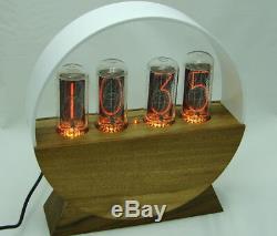 Nixie Horloge En Bois Tube In18, Rétro-éclairage Rgb