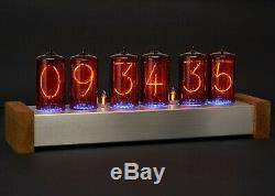 Nixie Horloge Grands Tubes Rares 6x Z566m Inclus Vintage Steampunk Guerre Froide