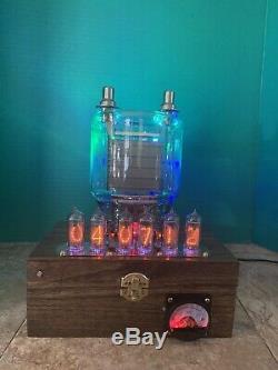 Nixie Horloge In-14 Steampunk. Laiton, Cuivre Et Verre. Lit 833a Cookie Jar Tube