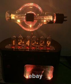 Nixie Horloge In-14 Steampunk. Militaire Tube Jan-cue-860. Compteur Cible, Modèle Anneau