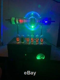 Nixie Horloge In-14 Steampunk. Rvb Lit Janv. Tube Cue-860. Ezekiel Modèle Anneau