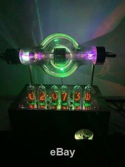Nixie Horloge In-14 Steampunk. Rvb Lit Radiotron Tube Ux-850. Ezekiel Modèle Anneau