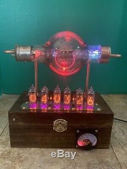 Nixie Horloge In-14 Steampunk. Rvb Lit Rca 860 Tube. Ezekiel Modèle Anneau