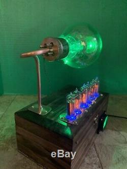 Nixie Horloge In-14 Steampunk. Rvb Lit Rca Radiotron 860 Tube. Ezekiel Modèle Anneau