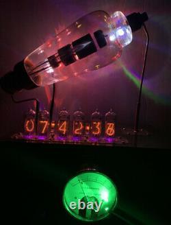 Nixie Horloge In-14 Tube. Le Style Steampunk. 627 Syntron Tungar Tube, Laiton Ampèremètre
