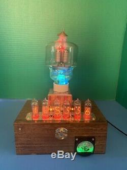 Nixie Horloge In-14 Tube. Le Style Steampunk. Lit 300 Watt Émetteur. Verre D'uranium