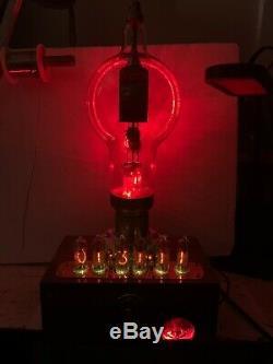 Nixie Horloge In-14 Tube. Le Style Steampunk. Lit Eimac 6c21 Tube. Ezekiel Anneau