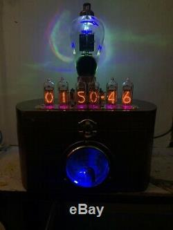 Nixie Horloge In-14 Tube. Le Style Steampunk. Lit T-55 Vintage Tube & Brass Ampèremètre