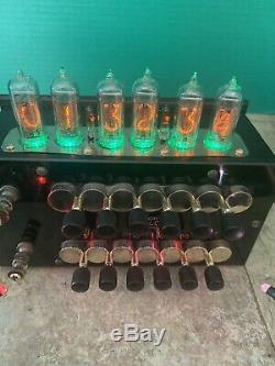 Nixie Horloge In-14 Tube. Steampunk. Magnifiquement Réorientés Résistance Vintage Box